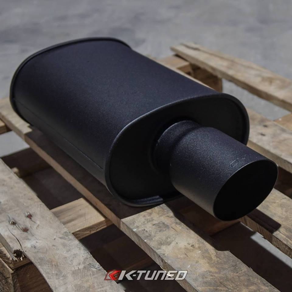 K-Tuned Universal Oval Mufflers Now Available In Wrinkle Black