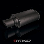 Universal Muffler - Wrinkle Black / Short (Offset Inlet / Center Outlet)