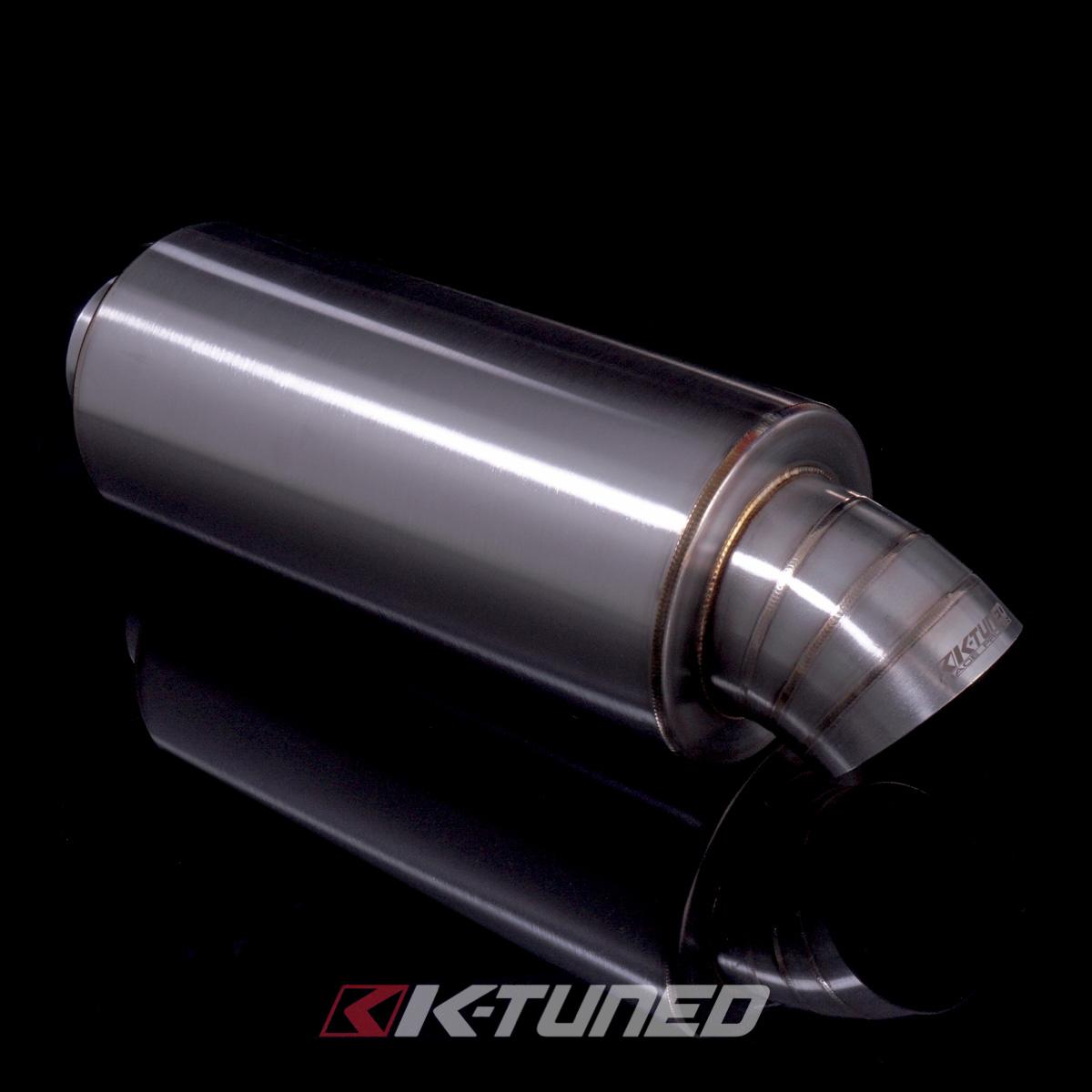 "PLM Universal Turndown Muffler 4/"" Dolphin Tip JS Drop JDM Exhaust Inlet 2.5/"""