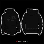K-Tuned Hoodie - Grey on Black